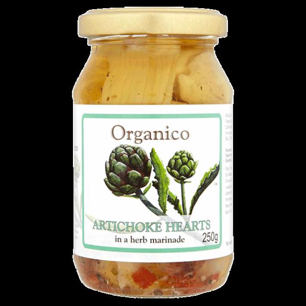 artichoke hearts in glass jar